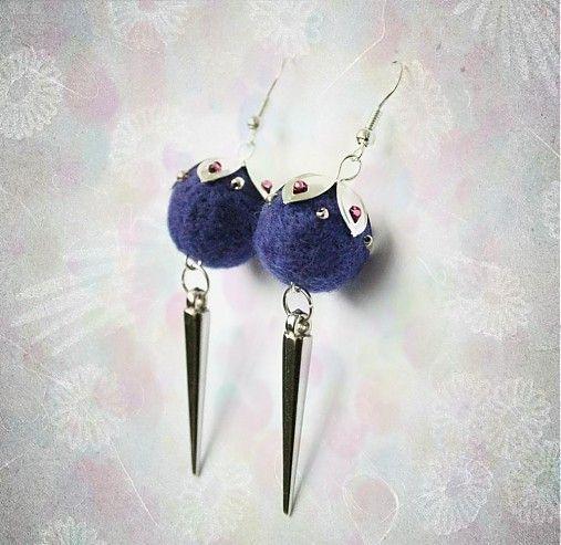 Conus by lurga - SAShE.sk - Handmade earrings - felted earrings