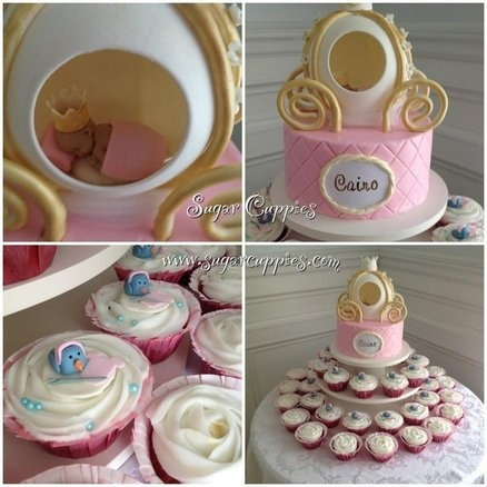 Exceptional Cinderella Baby Shower Cake By Sugarcuppies