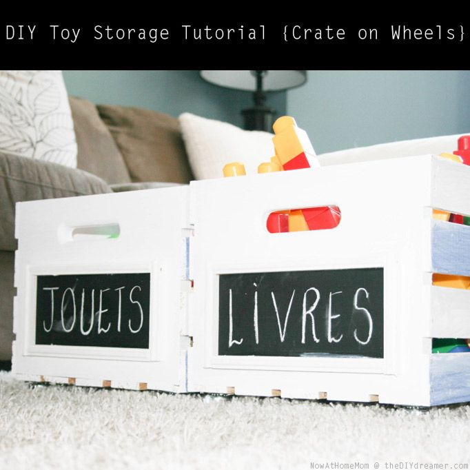 These would be cute in the playroom!  DIY Toy Storage Tutorial
