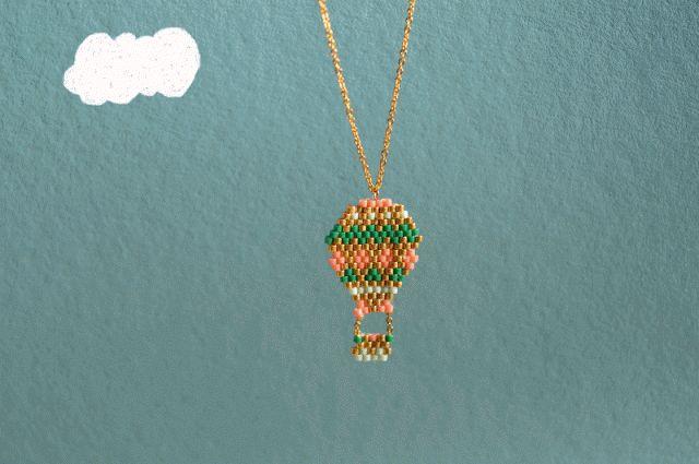 DIY - Collier montgolfière en brick stitch