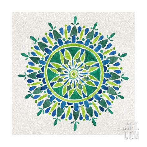 Art.fr - Impression giclée 'Mandala in Green' par Cat Coquillette