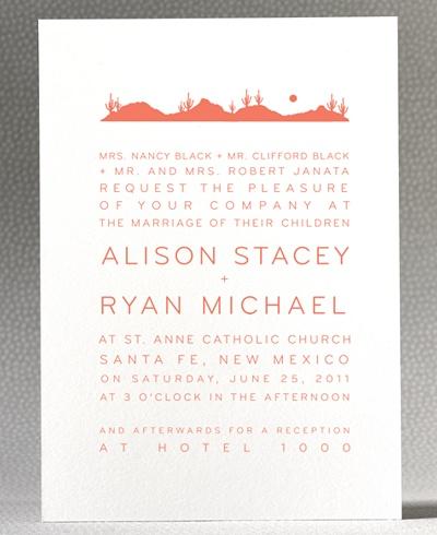 simple // modern // wedding invitation // wedding stationery