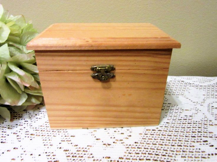 Box Wooden Unfinished hinged Treasure Chest Crafting Supplies Projects Painting Mosaic BLM by PorcelainChinaArt on Etsy