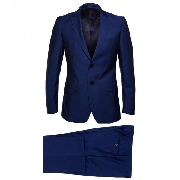 Paul Smith London Royal Blue Wool Mohair Suit (€775) ❤ liked on Polyvore featuring men's fashion, men's clothing and men's suits