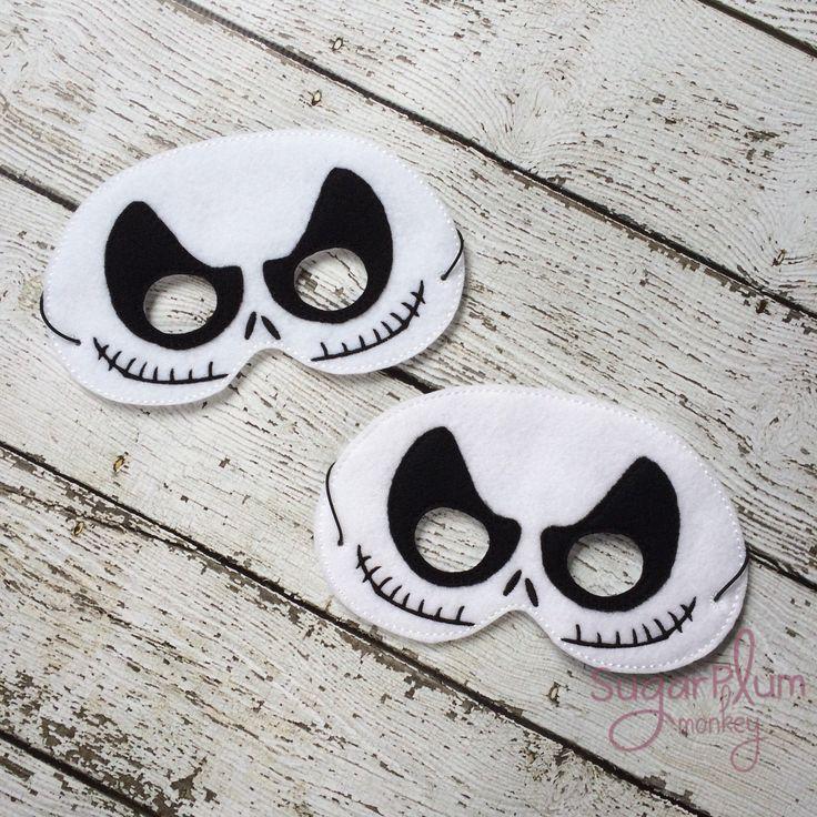 New to SugarPlumMonkey on Etsy: Skeleton Mask Children's Felt Mask