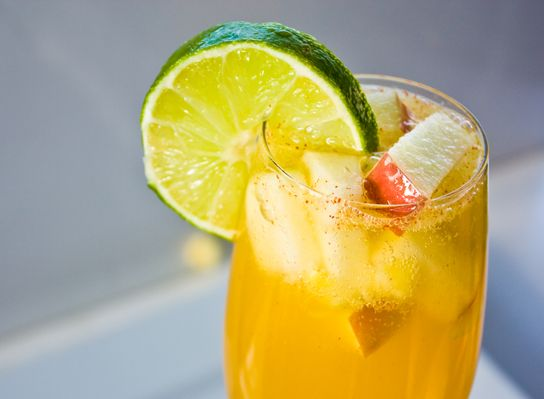 7 Spectacular Sangria Recipes...Fruity Fizzy White Sangria    A generous helping of effervescence and loads of tropical fruit make this a sangria recipe to remember.  Babble Food has the recipe  Image: Kathy Patalsky