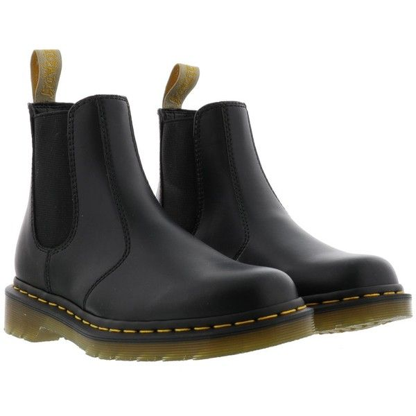 Dr. Martens Vegan Boots ($155) ❤ liked on Polyvore featuring shoes, boots, black, vegan boots, black vegan boots, fake leather boots, dr martens footwear and synthetic leather boots