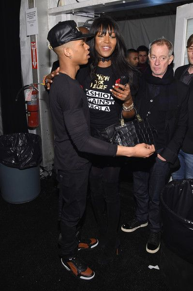 Bryshere Y. Grey and Naomi Campbell