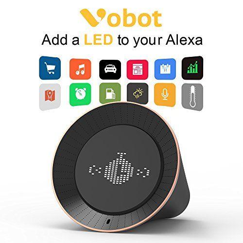 Smart Alarm Clock with Amazon Alexa 5W Speaker Voice Control LED Display Timer/Date/Weather/Daily News/Radio/Music(Amazon Music iHeartRadio TuneIn etc)