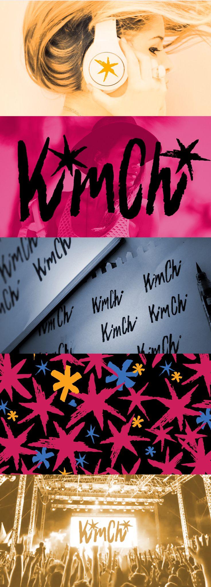 Hand Drawn Logo | DJ Kim Chi Branding by EyeSavvy Design | DJ Brand Identity | Graphic Design | DJ Logo