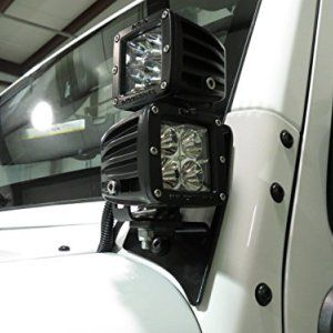 Genesis Offroad Double JK Jeep Dual Light Brackets