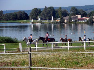 Balade à cheval à la base de loisirs du Lac de Madine.