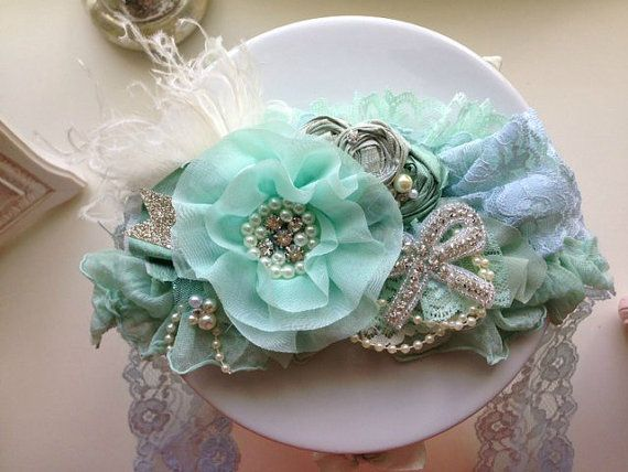Vintage Crown Sash in Mint by CozetteCouture on Etsy, $35.99