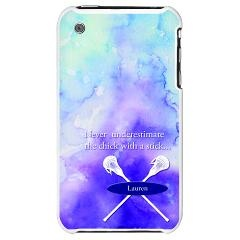 Personalized Girls Lacrosse iPhone 3G Hard Case > The Perfect Gift