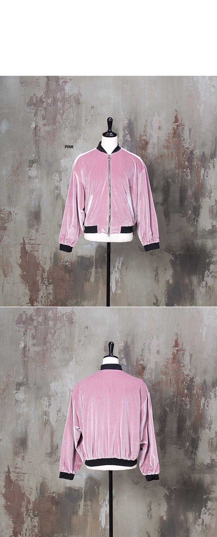 Loose fit velvet air-force jacket - 249