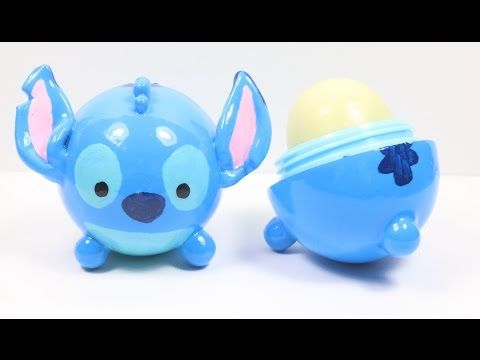 DIY EOS Lip Balm: Stitch Tsum Tsum Tutorial - YouTube
