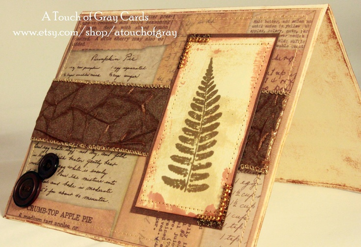 The Leaf of Autumn - Handmade Thanksgiving Card, Handmade Fall Card
