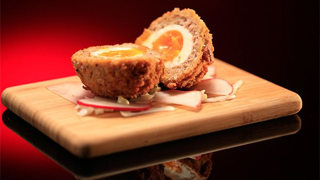 Scotch Egg with Herb Mayonnaise