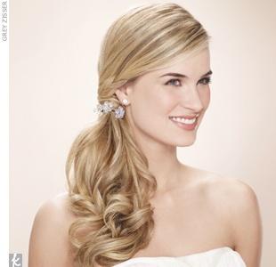 bridesmaid side ponytail?