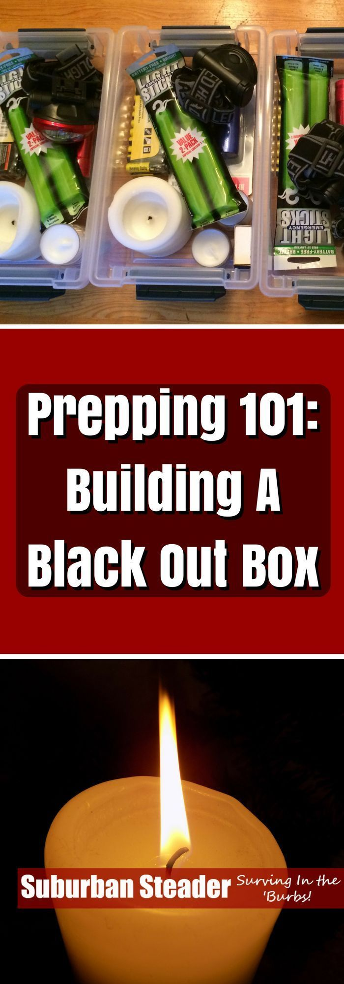 Learn a how to build a basic prepping kit - a Black Out Box - in this informative article. We even provide a list of equipment to get you started!