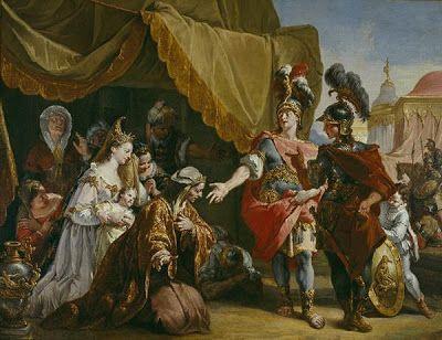 Fr. Fontebasso, Η οικογένεια του Δαρείου μπροστά στον Μ. Αλέξανδρο. 1750. Μουσείο Τέχνης του Ντάλας.