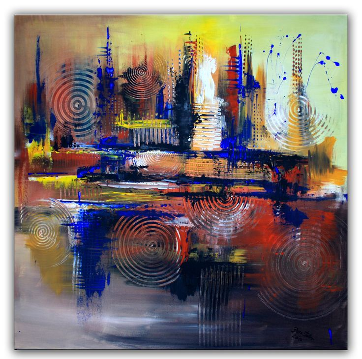 Abstrakte Wandbilder vom Künstler - Original Bilder Gemälde abstrakt ...