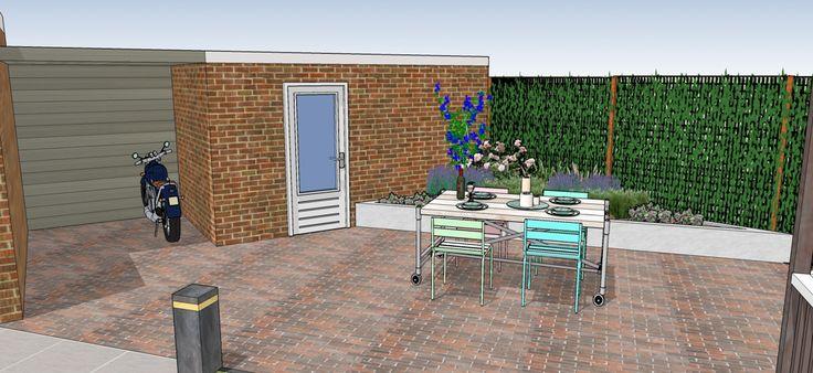 1000 images about diagonale tuin diagonal garden on for Tuinontwerp schuine lijnen