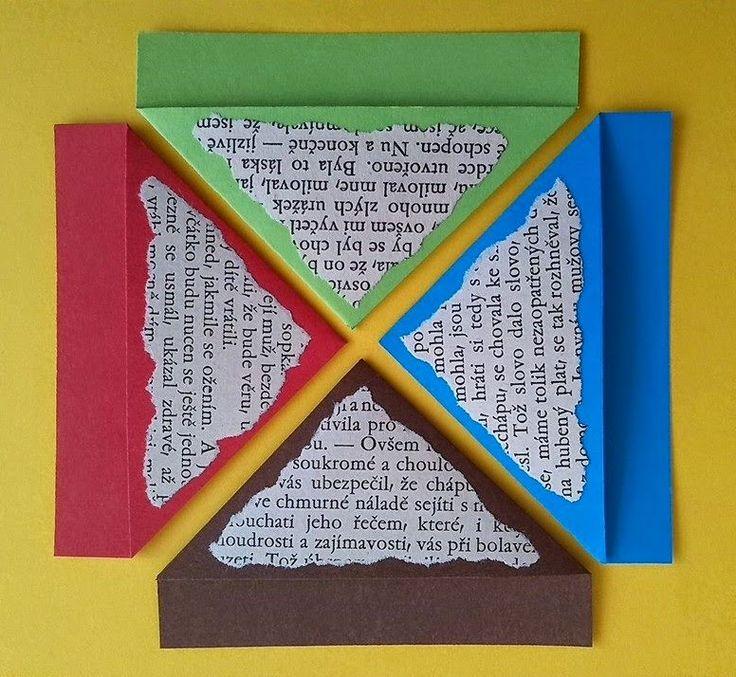 DIY recyklace - francouzské záložky bookmarks