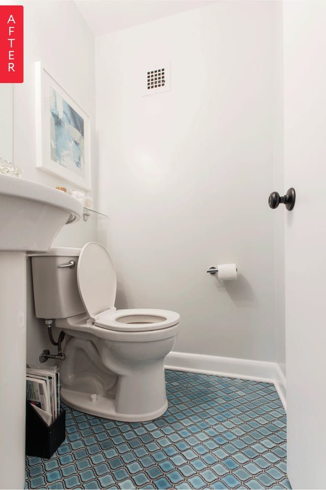 before after big changes for a little bathroom sweeten - Small Bathroom Ideas Apartment Therapy