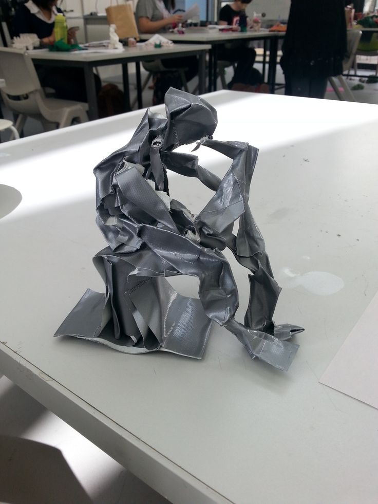 The Thinker (Duct Tape)