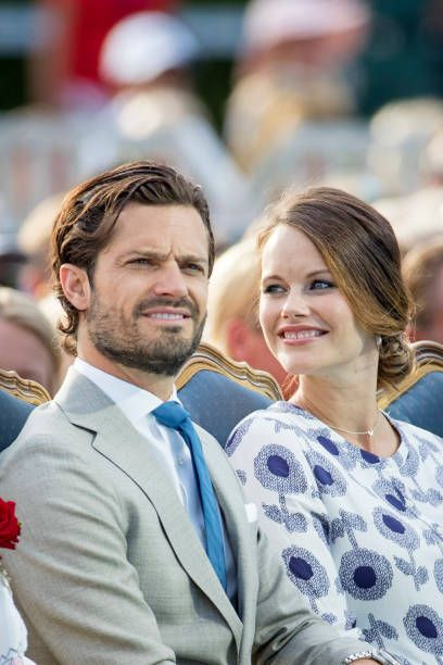 Prince Carl Philip of Sweden and Princess Sofia of The Netherlands attend the Victoria day celebration on the occasion of The Crown Princess Victoria...