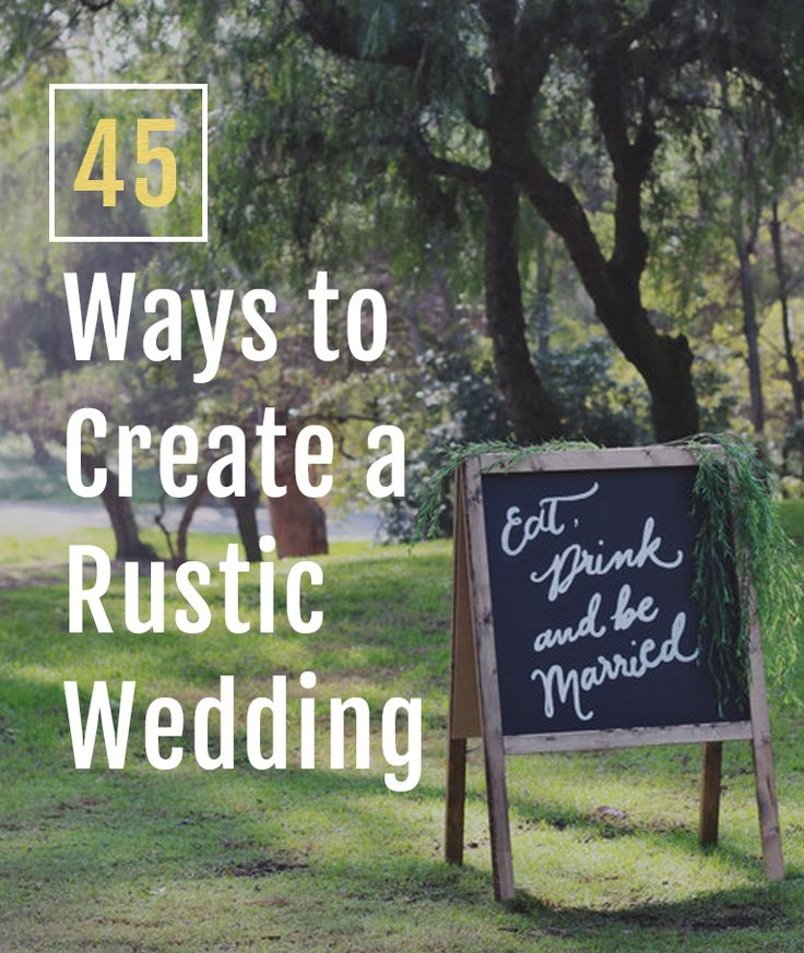 printable bridal registry list%0A    EASY WAYS TO CREATE A RUSTIC WEDDING