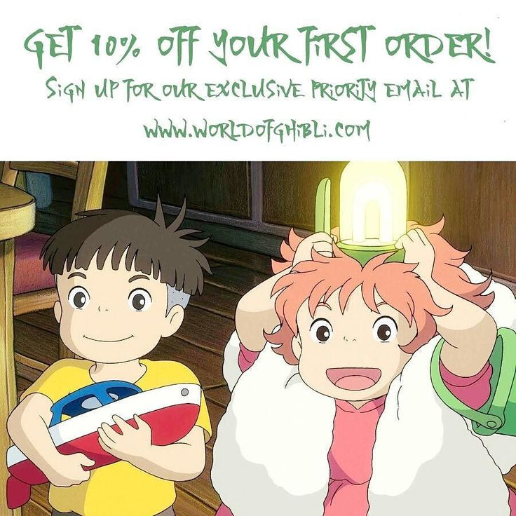 Make sure you're the first to know about our newest Ghibli merchandise! Sign up for our exclusive priority newsletter and get 10% off your first order!  #ghibli #ghiblilove #studioghibli #ponyo #ghiblimovies #freeshipping #gift #valentines #anime