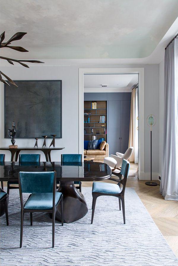 Shades of blue | living room | Damien Langlois-Meurinne