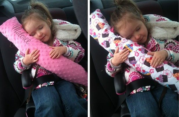 GroopDealz | Personalized Car Seat Pillow  I need to MAKE one of these!!