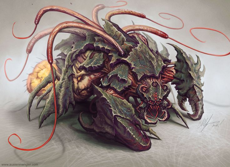 RED WHIP THRESHER by LordNetsua monster beast creature ...
