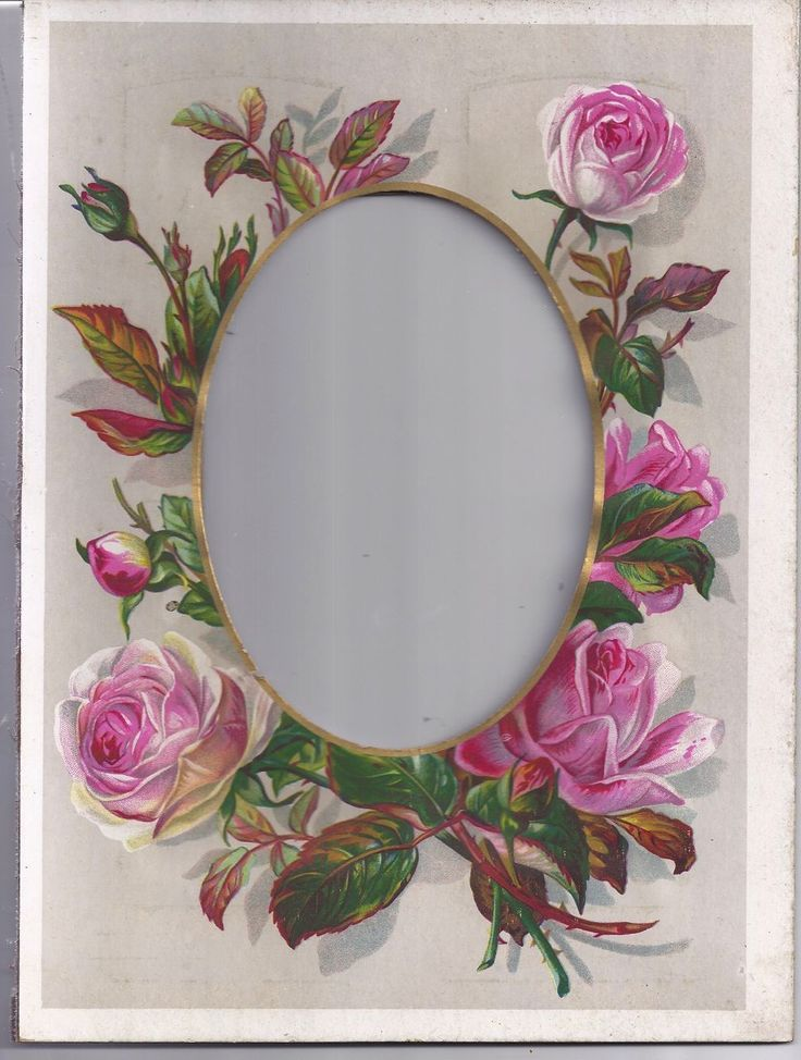 Lovely Chromolithograph Floral Page from Victorian Album from tomjudy on Ruby Lane