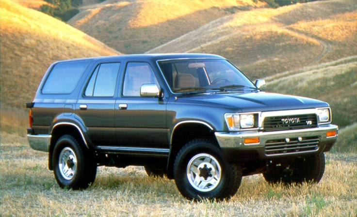 In 1990 the 4Runner replaced it's fiberglass rear end with an all metal one; I waited another year when they moved the spare from the tailgate to underneath the car.  My black 4Runner was stock; I was a suburbanite now and settling down I guess.  It was a great ride but like most modern 4Runner drivers I seldom took it off road.