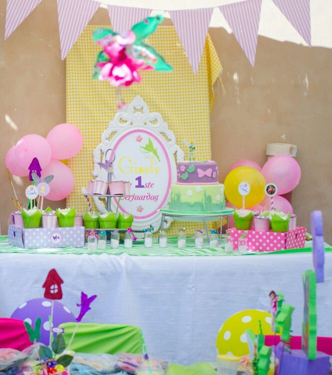 Dessert table tinkerbel