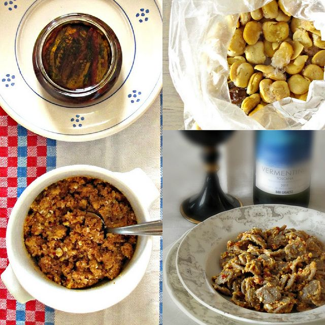 Orecchiette Integrali con pesto di Lupini e Pomodori Secchi al Limone