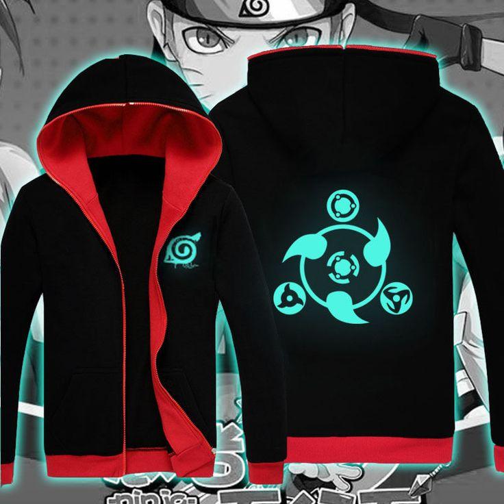 Luminous Anime NARUTO Clothing Sweatshirt Jackets Coat Hoodie S-XXL