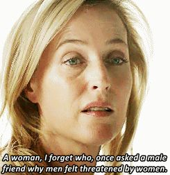 When Stella reminded Tom of what a hostile world women have to live in because of how men behave. | 15 Moments When Stella Gibson Was A Total Badass