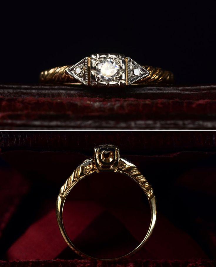 Antique, uniquely beautiful.: Cut Diamonds, 1930S Art, Deco Brilliant, Antiques Jewelry, Diamonds Rings, 1930S Rings, White Gold, Art Deco, Engagement Rings