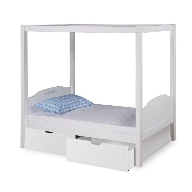 Expanditure EX802 Twin Panel Canopy Bed with Drawers