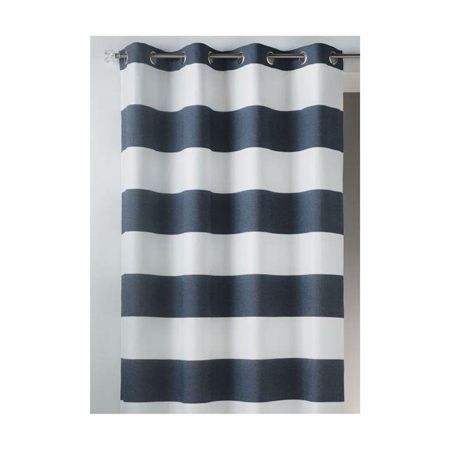 Rideau sergé et tissé à rayures horizontales épaisses HOME MAISON : prix, avis & notation, livraison.  Osez la fantaisie et l'élégance de ce rideau sergé et tissé à rayures horizontales épaisses. Il apportera du relief et de la pronfondeur à votre intérieur ! Ses vertues tamisantes vous protégeront avec charme des regards indiscrets de votre voisinage. Disponible dans les tons de gris, marine et lin, ce modèle est facile d'entretien et prêt-à-poser. CaractéristiquesComposition coloris Gris…