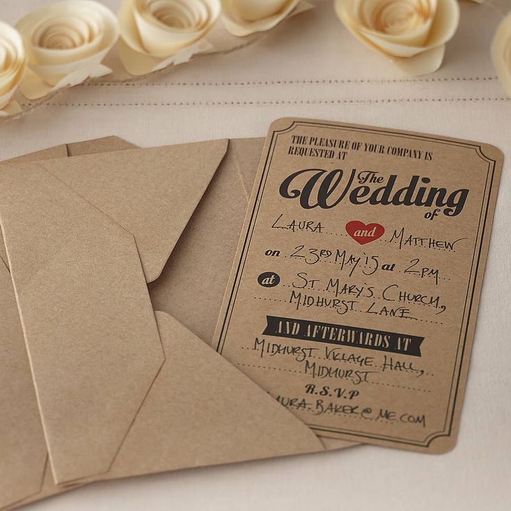 40 best wedding invitations images on pinterest | marriage, Wedding invitations