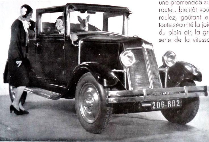 1930 Renault Monastella Car Advertising ad art deco POSTER Vintage Print Decor #Renault