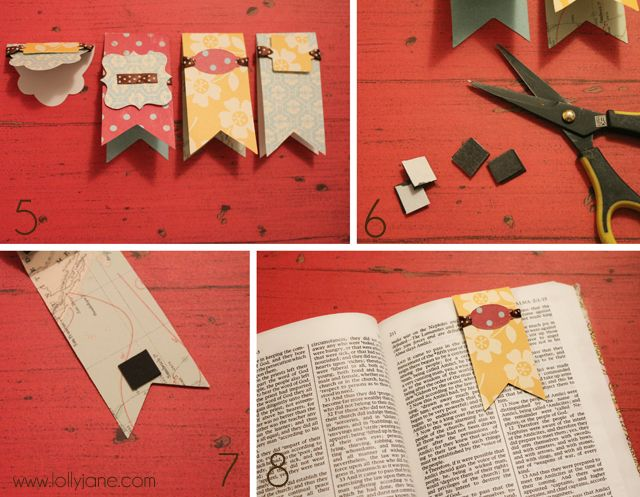 DIY Lolly Jane magnetic bookmark tutorial                                                                                                                                                                                 More