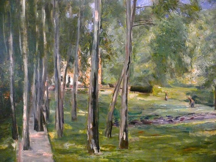 Max Liebermann Paintings   Birch grow
