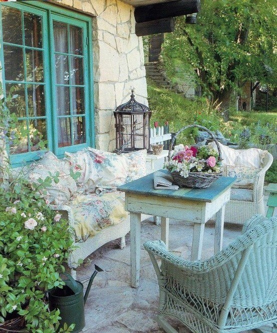Shabby Chic Spring Patio